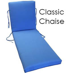 Classic Chaise Lounge Replacement Cushions