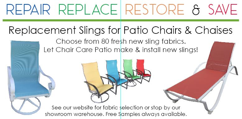 Chair Care Patio Makes And Installs Replacement Slings For Dallas North Texas Customers