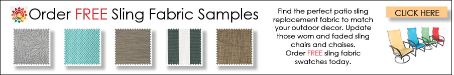 Free samples of Patio Sling Fabrics for Sling Replacement