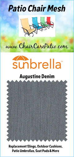 Patio Chair Mesh Fabric Sunbrella Augustine Denim