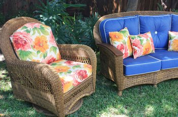 Cushions For Traditional Wicker Style Patio Chairs. We Offer Outdoor  Furniture ...